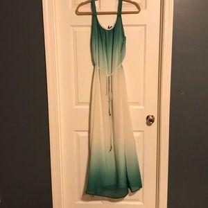 Ombré green maxi dress